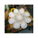 Wholesale Aspire 24 inches Pure Hand-Crocheted Crochet Lace Knit Line Garden Decoration Shade Round Tablecloths