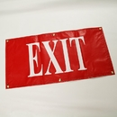 Douglas 22202 Vinyl Exit Sign, Red with White Letters