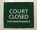 Douglas 34872B Court Sign -