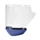 Elvex Deltuplus FS-18L-CP Clear Molded Cylinder Lexan® Face Shield With Chin Protector