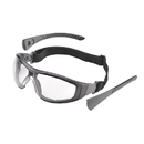 Elvex Deltuplus Go-Specs II Flame Resistant Foam Lined Eyewear With Temples And Fabric Strap In Amber/Clear/Grey Supercoat Anti-Fog Lens