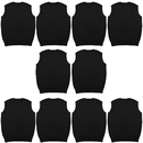TOPTIE 10 Pack Mens Cotton Knit V-Neck Sweater Vest Casual Slim Fit Sleeveless Pullover