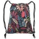 Print Drawstring Backpack Cinch Sack Storage Bag for Women Girls Beach Travel Hiking, 5 Styles