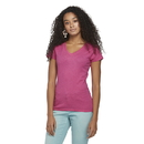 Delta Apparel 1336V Junior 4.3 oz V-Neck Tee