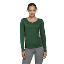 Delta Apparel 56535L 30/1's Ladies Performance Long Sleeve Tee