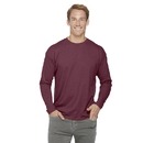 Delta Apparel 616535 30/1's Adult Performance Long Sleeve Tee
