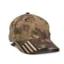 Outdoor Cap CWF-305 Structured Camo Hat with US Flag Visor Insert
