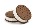 Norse Dairy Chocolate Scalloped Ice Cream Wafers 23.35lb, 560156