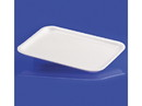 "Pactiv 4S White Foam Tray 7""x9"" 500ct, 813050"