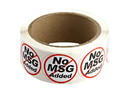 "Labels Black/Red/White ""No MSG Added"" Labels 500ct, 852325"