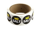 "Labels Black ""No Salt"" Labels 500ct, 852327"