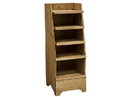 Homestead Heirlooms Mini Wooden Display Rack 47Hx17.5Wx17.5D 1ea, 896098