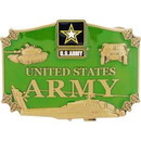 Eagle Emblems B0100 Buckle-Army, Action (3-1/4