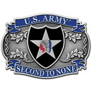 Eagle Emblems B0113 Buckle-Army, 002Nd Div. (3-1/8