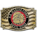 Eagle Emblems B0129 Buckle-Usmc, Bulldog (3-1/4