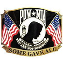 Eagle Emblems B0131 Buckle-Pow*Mia, Gave All (3-1/4