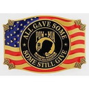 Eagle Emblems B0132 Buckle-Pow*Mia, Still Give (3-1/4