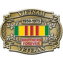 Eagle Emblems B0136 Buckle-Viet, Vet.Brothers (3-1/4