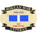 Eagle Emblems B0148 Buckle-Korean War Veteran (3-1/4
