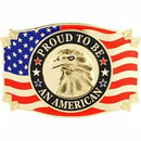 Eagle Emblems B0154 Buckle-Usa, Eagle, Proud (3-1/4