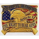 Eagle Emblems B0157 Buckle-2Nd Amendment, Eagl (3-1/4