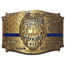 Eagle Emblems B0164 Buckle-Police, Blue Line Honor (3-1/8