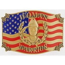 Eagle Emblems B0174 Buckle-Woman Warrior, (3-1/4