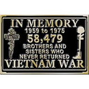 Eagle Emblems B0175 Buckle-In Memory, Veterans (3-1/8