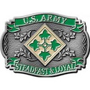 Eagle Emblems B0176 Buckle-Army, 004Th Div. (3-1/8