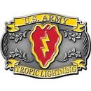 Eagle Emblems B0179 Buckle-Army, 025Th Div. (3-1/8