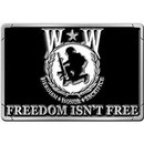 Eagle Emblems B0180 Buckle-Wounded Warrior (3-1/8