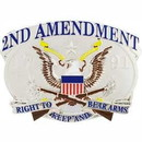 Eagle Emblems B0185 Buckle-2Nd Amendment, Usa (3-1/2
