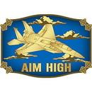 Eagle Emblems B0187 Buckle-Usaf Fighter Jet (3-1/4