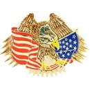 Eagle Emblems B0188 Buckle-Usa, Eagle & Flag (3-1/2