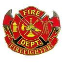 Eagle Emblems B0194 Buckle-Fire Dept.Fighter (3-1/8