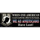 Eagle Emblems BM0005 Sticker-Pow*Mia, When One (3-1/2
