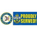 Eagle Emblems BM0141 Sticker-Usn Logo, Proudly Served (3-1/2
