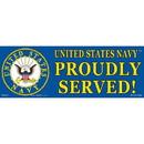 Eagle Emblems BM0152 Sticker-Usn Logo, Proudly (3-1/2