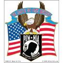 Eagle Emblems BM0329 Sticker-Pow*Mia, Eagle We Leave No One Behind (4