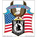 Eagle Emblems BM0330 Sticker-Wounded Warrior Eagle (4