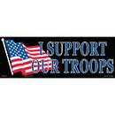 Eagle Emblems BM7005 Sticker-Support Our Troop (3-1/2