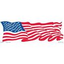 Eagle Emblems BM7315 Sticker-Usa, Flag, Wavy (3-1/2