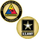 Eagle Emblems CH1077 Challenge Coin-Army, 003Rd Armor Div. (1-5/8