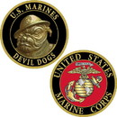 Eagle Emblems CH1232 Challenge Coin-Usmc Devil Dogs (1-5/8