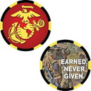 Eagle Emblems CH3520 Challenge Coin-Usmc Logo Made In Usa (1-3/4