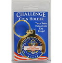 Eagle Emblems CH9512 Challenge Coin Key Ring (1-5/8
