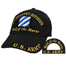 Eagle Emblems CP00111 Cap-Army, 003Rd Inf.Div. (Brass Buckle)