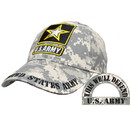 Eagle Emblems CP00127 Cap-Army Logo, Camo. (Brass Buckle)