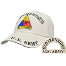 Eagle Emblems CP00141 Cap-Army, 001St Armor Div. (Brass Buckle)