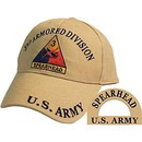 Eagle Emblems CP00143 Cap-Army, 003Rd Armor Div. (Brass Buckle)